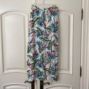NWOT H&M Side Split Tropical Skirt